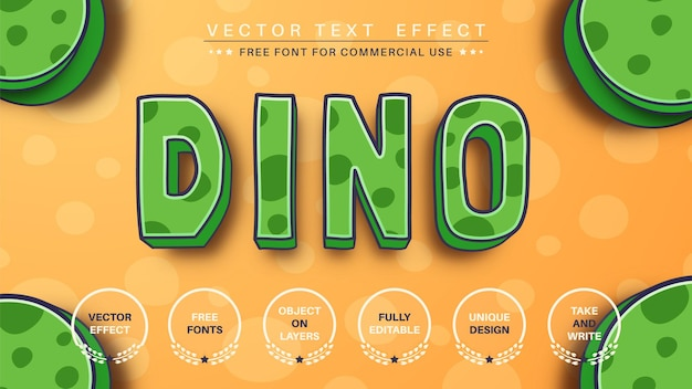 Dinosaurus bewerkbaar teksteffect