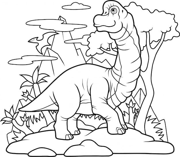 Dinosaurus brachiosaurus