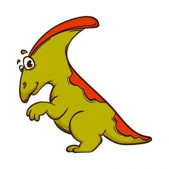 Dinosaurus cartoon schattig monster