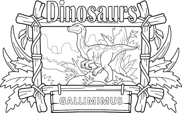 Dinosaurus gallimimus