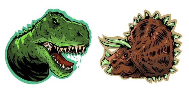 Dinosaurus hoofd ontwerp illustratie