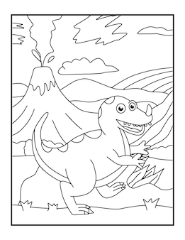 Dinosaurus kleurplaten voor kinderen