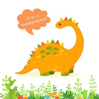 Dinosaurus met tekstballon
