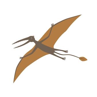 Dinosaurus, rhamphorhynchus. vector illustratie.