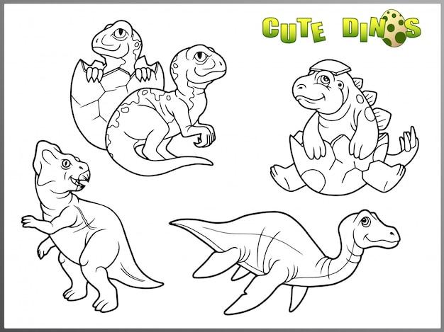 Dinosaurus set kleurboek