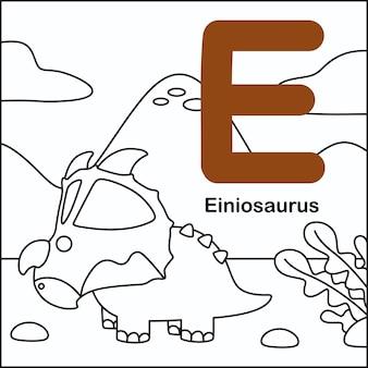 Dinosauruskleuring met alfabet e