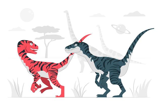 Dinosaurussen concept illustratie