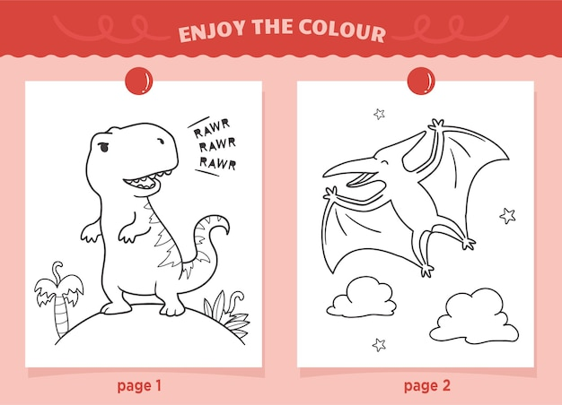 Dinosaurussen kleuren voor kinderen