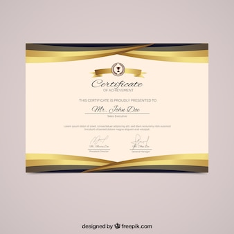 Diploma met gouden vormen