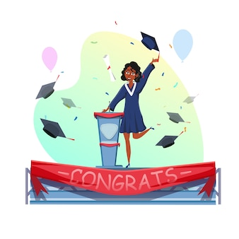 Diploma ontvangen en afstuderen toespraak