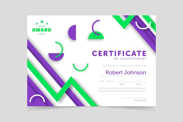 Diploma sjabloon concept