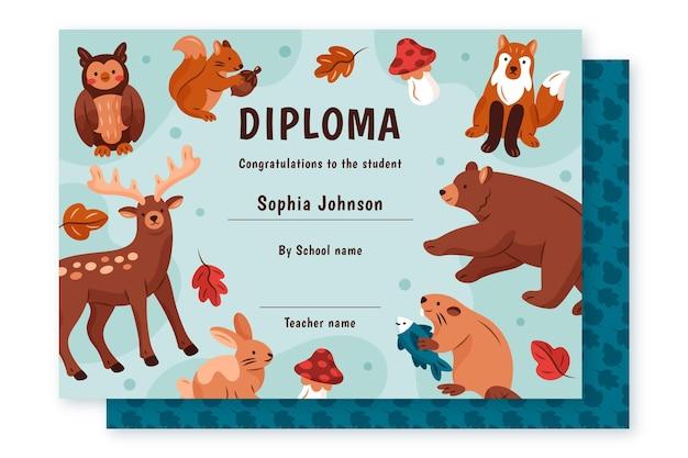 Diploma sjabloon voor kinderen concept
