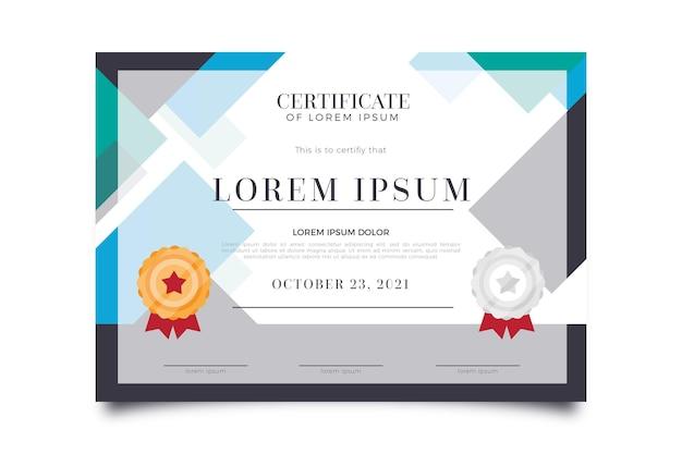 Diploma-sjabloon voor virtuele afstuderen