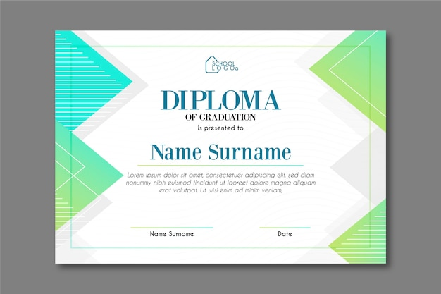 Diploma sjabloon