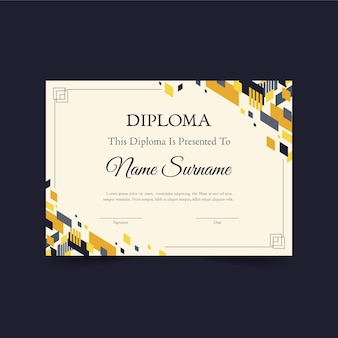 Diploma sjabloonontwerp