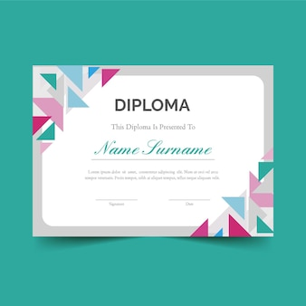 Diploma thema voor sjabloon