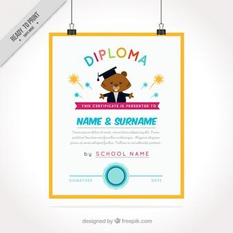 Diploma voor kinderen met bever