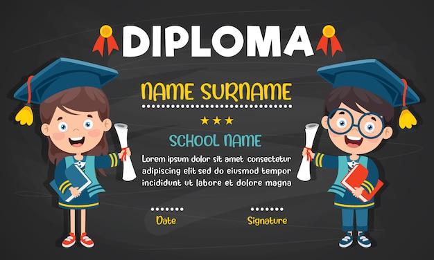 Diplomacertificaat voor kleuters en basisschoolkinderen