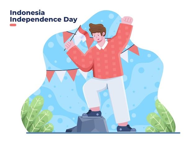Dirgahayu kemerdekaan indonesië onafhankelijkheidsdag op 17 augustus vertalen happy indonesia onafhankelijkheid