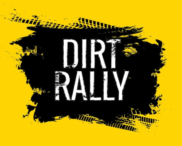Dirt rally road track band gringe textuur. motor- of autorace vuile wielspoor woordafdruk.