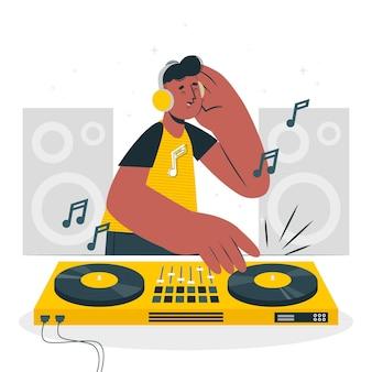 Disc jockey concept illustratie
