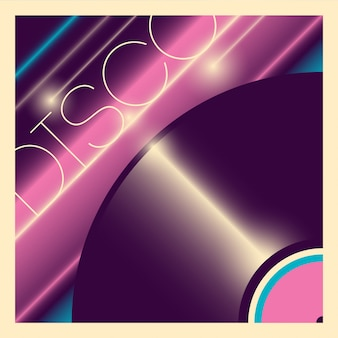 Disco achtergrondontwerp
