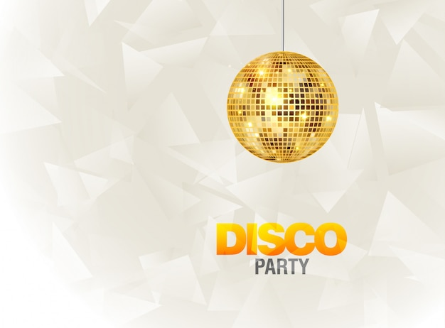 Disco dansfeest achtergrond flyer poster. partij sjabloonontwerp. lichte discobalmuziek