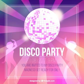 Disco feest uitnodiging