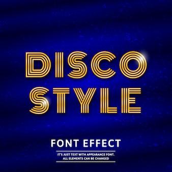 Disco-lettertype-effect