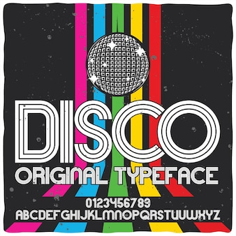 Disco lettertype