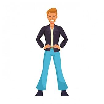 Disco man cartoon