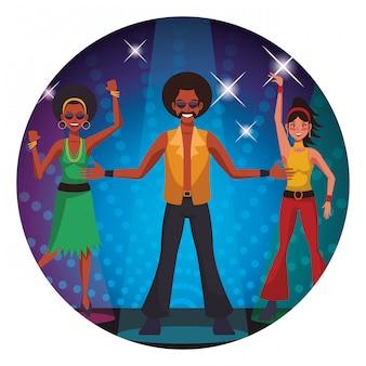 Disco mensen cartoon