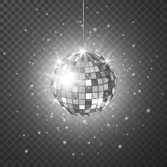 Disco of spiegelbol met heldere stralen