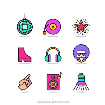 Disco pictogrammen