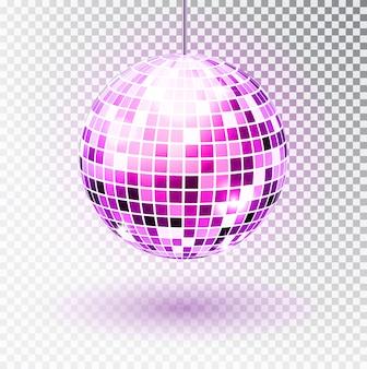 Discobal geïsoleerde illustratie. night club party lichtelement.