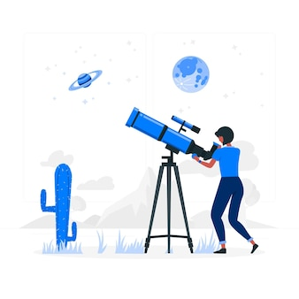 Discovery concept illustratie Gratis Vector