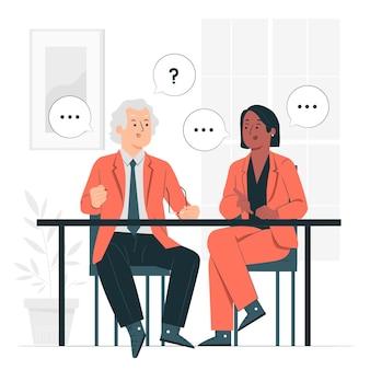 Discussie concept illustratie