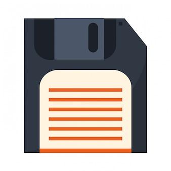 Diskette opslaan symbool geïsoleerd