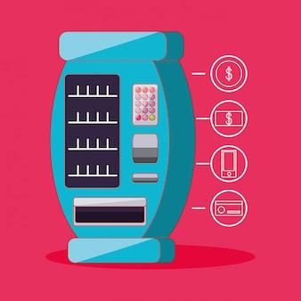 Dispenser van producten elektronische machine