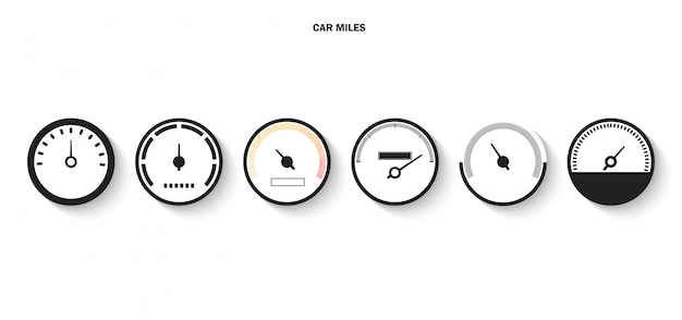 Display met schaal en pijl pictogram voor snelheidsmeter