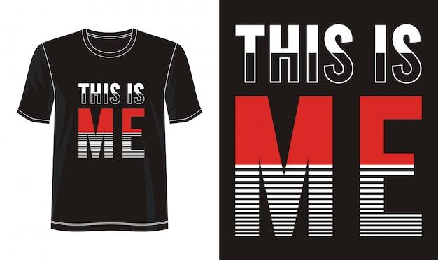 Dit is mij typografie voor print t-shirt