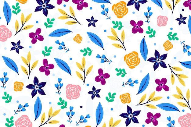 Ditsy bloemen behang