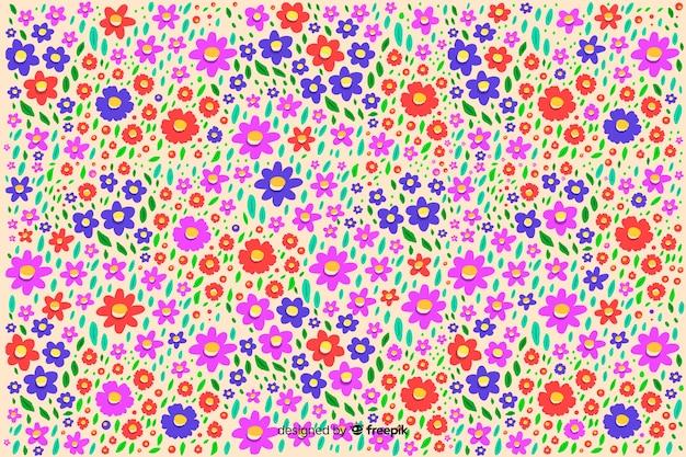 Ditsy bloemen kleurrijke achtergrond