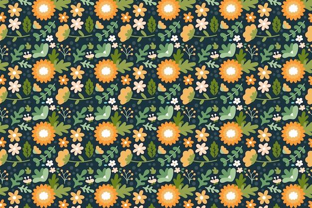Ditsy kleurrijke bloemenachtergrond