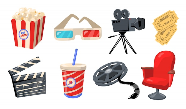 Diverse bioscoop-, theater- en filmelementen