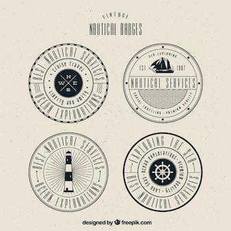 Diverse decoratieve stickers met nautische elementen
