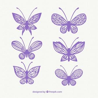 Diverse decoratieve vlinders