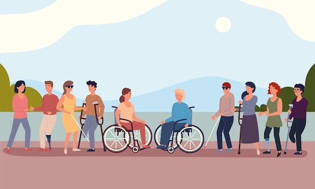 Diverse gehandicapten