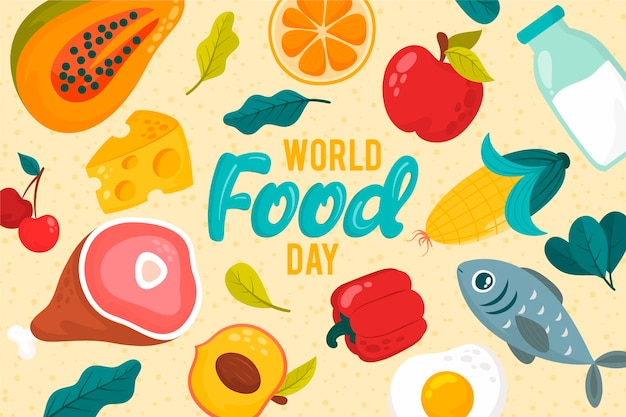 Diverse heerlijke gerechten wereldvoedseldag concept