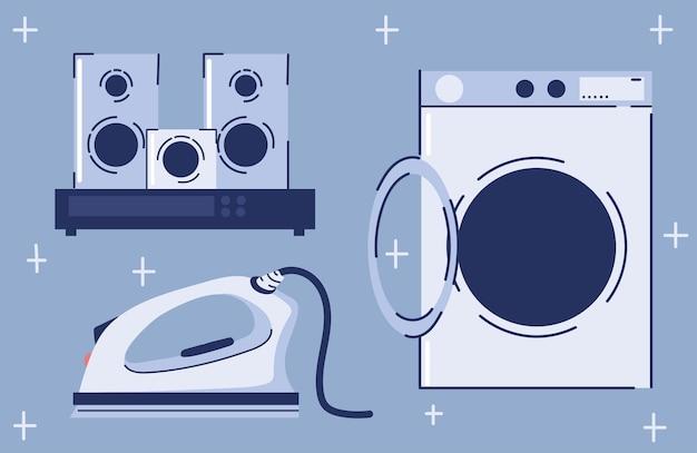 Diverse huishoudelijke apparaten